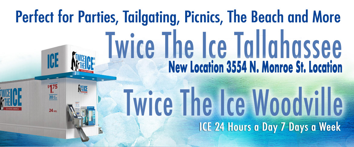 Tallahassee Ice for tailgating, parties, picnics fishing, camping, and more
