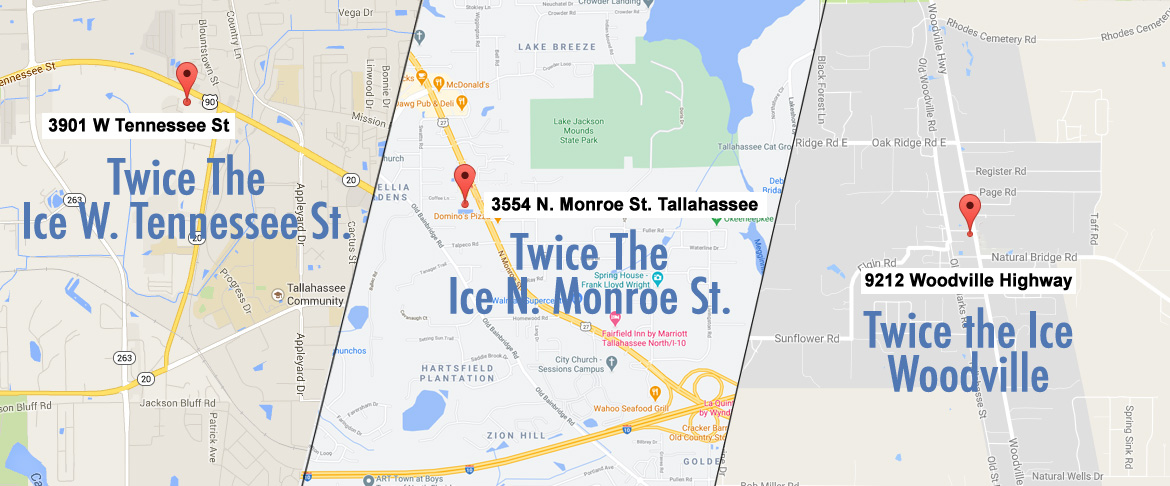 Tallahassee Ice 10 and 20 lb bags